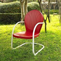 Red White OUTDOOR METAL RETRO VINTAGE STYLE CHAIR Patio Furniture