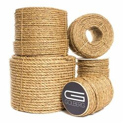Golberg 3 Strand Natural Fiber Tan Manila Rope Available in Many Sizes amp; Lengths $13.19