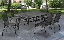 Dining Table Set For 6 Outdoor Clearance Patio Diner Wrought Iron 7 pc Furniture