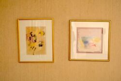 Leanne Weissler Original Artwork 1978 and 1989 Signed Framed Art Decor NYC