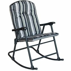 Folding Rocking Chair For Women Men Modern Patio Indoor Outdoor Garden Adult New