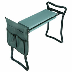 Garden Kneeler Seat w/EVA Folding Portable Bench Kneeling Pad and Tool Pouch New $26.99