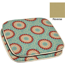Set of 2 Chair Seat Pad Cushion Set Patio Garden Outdoor Dining Furniture Floral