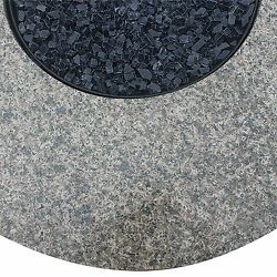Uniflame 43.3 in. Round Granite and Wicker Propane Fire Table