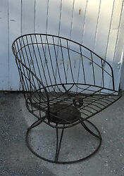 Mid Century Swivel Rocker Homecrest Wire Outdoor Patio Barrel Back Lounge Chair