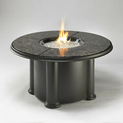Black Stainless Steel 48-in W 60000-BTU Piezo Liquid Propane Gas Fire Pit Table