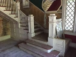 Antique Vintage Early 1900's Craftsman Style Staircase Architectural Salvage
