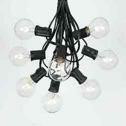 6X 25FT Black G40 Outdoor Globe Patio String Fairy Light Wedding Xmas Christmas