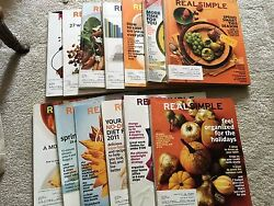 REAL SIMPLE LOT MAGAZINES - 13 ISSUES – HOME GARDEN ORGANIZATION