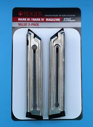 Ruger Mark III 3 and IV 4 Magazine 10 Round 22 LR Value 2 Pack 90645 OEM Mag New $32.49