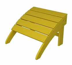 POLYWOOD South Beach Lemon Plastic Ottoman Rectangle Patio Furniture Outdoor