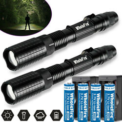 Tactical Police 990000Lumen T6 5Modes LED Flashlight Aluminum Torch Zoomable USA $10.98