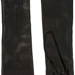 BARNEYS NEW YORK WOMENS CASHMERE-LINED LONG GLOVES