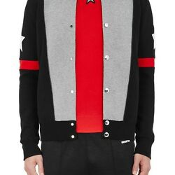 GIVENCHY MENS COLORBLOCKED COTTON-BLEND SWEATER JACKET