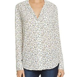 EQUIPMENT WOMENS SILK FLORAL PAJAMA STYLE SHIRT