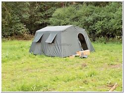 Military Army Outdoor Large BaseCamp Tent Shelter 6 Person Olive Factory New $284.99