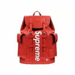 Louis Vuitton x Supreme Christopher Backpack PM Red RARE Brand New POPUP IN HAND