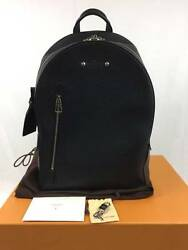 LOUIS VUITTON ARMAND TAURILLON LEATHER BACKPACK Day Shoulder Bag M42687 Mint