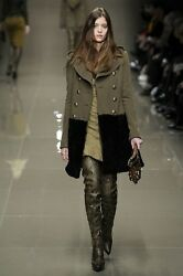IMPOSSIBLE TO FIND WOOL SHEEP PECORA COAT BURBERRY PRORSUM FUR 34 FR 38 IT