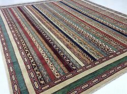 8 x 10 Stunning Tribal Shawl Persian Oriental Hand Knotted Wool Area 8'1