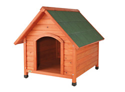 Log Cabin Large Dog House Pet Home Outdoor Wood Shelter Weather Resistant