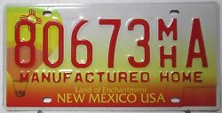 1970 New Mexico USA license plate tag Manufactured Home 80673 MH A Enchantment