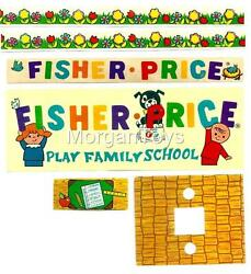 Vintage FISHER PRICE SCHOOL #923 REPLACEMENT LITHOS Little People Play Family $10.99