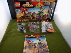 LEGO MARVEL S.H. 76078 Hulk vs Red Hulk Red She-Hulk & car only (ML# 29)