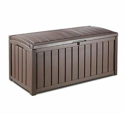 Keter 50.4-in L x 25.6-in W 103.03-Gallon HDPE Deck Box Patio Home Furniture