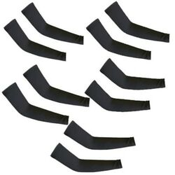 5 Pairs Black Cooling Arm Sleeves Cover UV Sun Protection Basketball Sport $8.99
