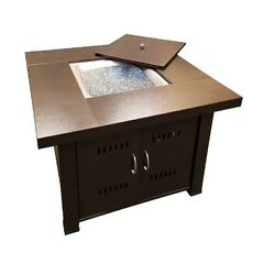 Hammered Bronze Stainless Steel 38-in W 40000-BTU Liquid Propane Gas Fire Table