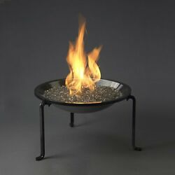 Brown Portable Aluminum 22.5-in W 60000-BTU Liquid Propane Gas Firepit Firebowl