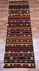 Turkish Vintage Kilim Rug Kelim Carpet From Sivas Bohemian 2#x27;x6#x27; $170.00