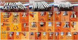 9kinds 30pcs Stainless Steel Leather Craft Stamping Stamp Punch Tool Set -ABC