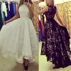 Women Formal Long Lace Dress Prom Evening Party Cocktail Bridesmaid Wedding Gown $10.99