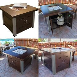 Patio Heaters Propane Fire Pit Cover Propane Gas Table Top Two Tone Party House