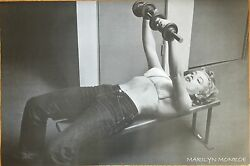 Marilyn Monroe Lifting Weights  24 x 36  poster