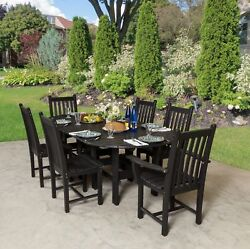 Wildridge Recycled Plastic Classic 44x84 Table w 6 side chairs