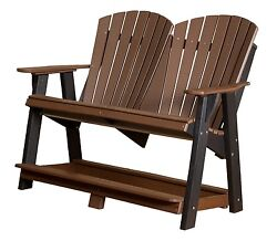Wildridge Recycled Plastic Heritage Double High Adirondack Bench