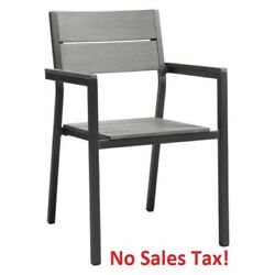Outdoor Patio Armchair Dining Chair Seat Backyard Bistro Cafe Furniture