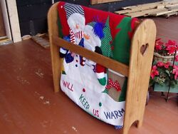 Quilt Rack Stand Hanging Shelf for the Floor Country Wooden Display Rack $194.40