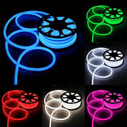 LED Neon Rope Light Flexible Tube Sign Holiday Wedding Party Room Decor Strip
