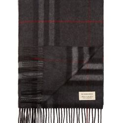 BURBERRY WOMENS GIANT ICON CHECK CASHMERE SCARF