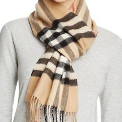 BURBERRY WOMENS GIANT CHECK CASHMERE SCARF