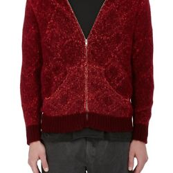 THE ELDER STATESMAN MENS MARLED CASHMERE JACQUARD HOODIE