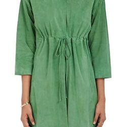 LISA PERRY WOMENS SUEDE DRAWSTRING COAT