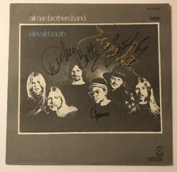 The Allman Brothers Signed Idlewild South X4  Vinyl LP JSA LOA # Z08650 Auto