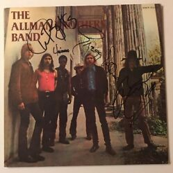 The Allman Brothers Signed X4 Self Titled Album Vinyl LP JSA LOA # Z08644