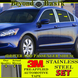2008-2012 HONDA ACCORD 4dr 6PC Stainless Steel Chrome Pillar Post Covers Trims $24.98