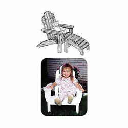 Woodworking Project Paper Plan to Build Child's Adirondack Chair with Footrest